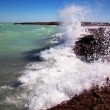 Stock Photo: Rocky beach and surf
