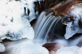 зимний ручей — Стоковое фото