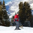 Stock Photo: Red skier