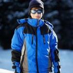 Portrait of a Boy in ski glasses — Stock Photo #2676835