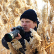 Stock Photo: Nature Photographer shooting