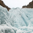Winter ice waterfall — Stock Photo #2677582