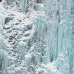 Winter ice waterfall — Stock Photo
