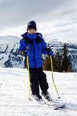 Boy skiing — Stock Photo