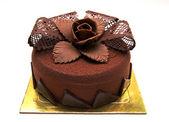 Chokolate cake with decorations — Stock Photo