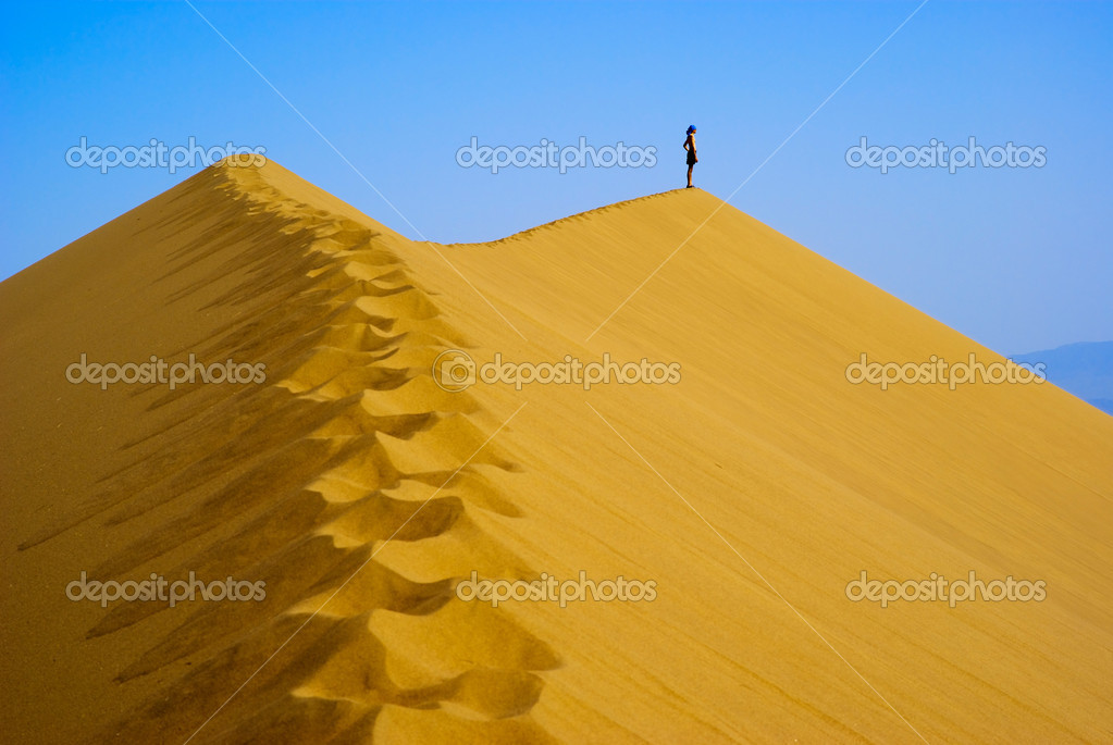 Man on top Sand Dune — Stock Photo #2673605