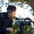 Stockfoto: Video operator removes sunrise