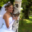 Bride blonde and birch - Photo