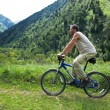 Mountain bike tourism — Stock Photo