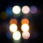 Defocused abstract night lighting — Stock Photo