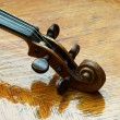 Retro violin close-up - Zdjęcie stockowe