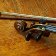 Retro violin close-up - Foto Stock