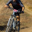 Mountain biker racing — Stock Photo #2688873