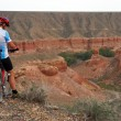 Mountain biker and Canyon Temirlik — Stok fotoğraf