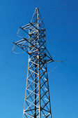 Steel electric pole — Stock Photo