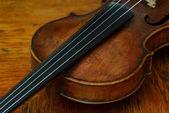 Retro violin close-up — Stock Photo