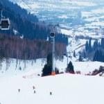 estância de esqui de montanha de inverno — Foto Stock