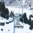 Winter mountain ski resort — Stockfoto