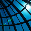 Stock Photo: Glass dome and sun