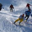 Stock Photo: Extreme ski race