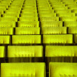 Yellow concert hall seats. — Stock Photo