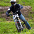 Extreme downhill under rain — Stock Photo #2692058