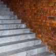 Stairway and brick wall — Stock Photo #2692880