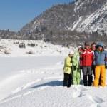 Friends in winter mountain — Stock Photo #2693058