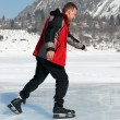 Stock Photo: Ice Skating on mountain like