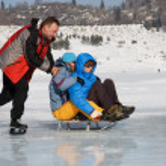 Crazy ice skating — Stock Photo #2693752