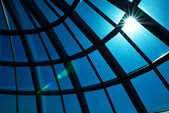 Glass dome and sun — Stock Photo