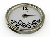 Clock with numbers have fallen — Stock Photo