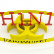H1N1 quarantine — Stock Photo