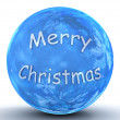 Merry Christmas ball — Stock Photo