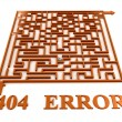 Maze labyrinth with 404 error — Stock Photo