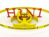 H1N1 quarantine — Stock Photo