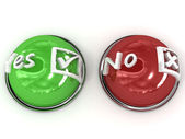 Buttons Yes No — Stock Photo