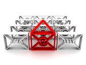 φάκελο με τα spam και στο — Φωτογραφία Αρχείου