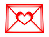 Email with heart — Stock Photo