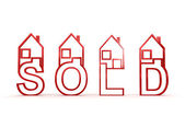 Sold houses — Stock Photo
