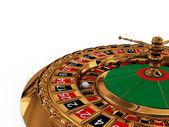 Casino roulette wheel — Stock Photo