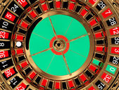 Casino roulette wheel top view — Stock Photo
