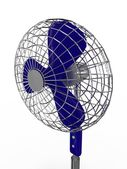 Electric fan blower on white background — Stock Photo