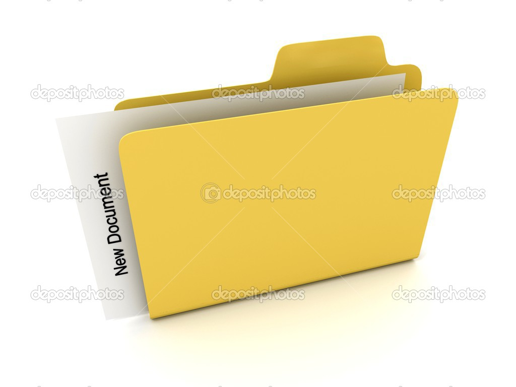 File folder with document. 3D — Stock Photo #2597775