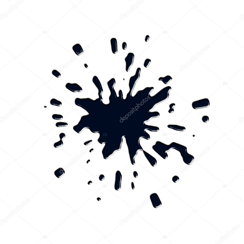 Ink splashes, stains  Stock Photo #2598177