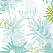 Retro floral pattern background - Stock Vector