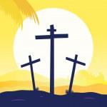 Jesus crucifixion - calvary scene — Stock Vector #2595111