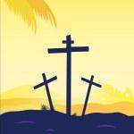 Jesus crucifixion - calvary scene — Stock Vector #2595119