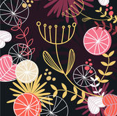 Retro floral pattern background — 图库矢量图片