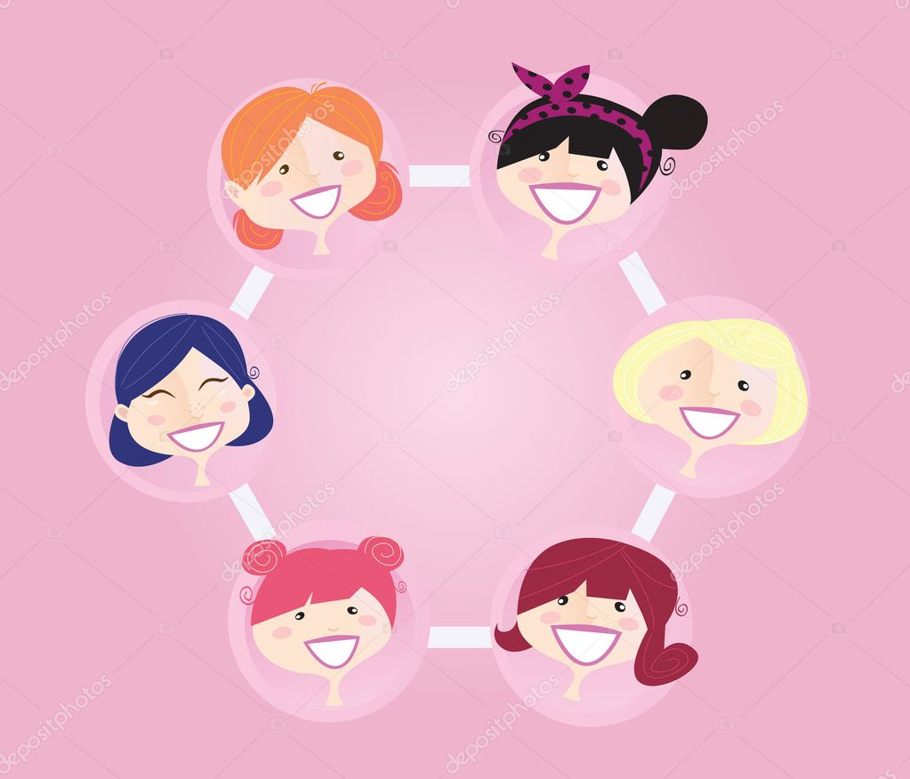 women networking group stock vector © beeandglow 2594493 women networking group stock vector 2594493